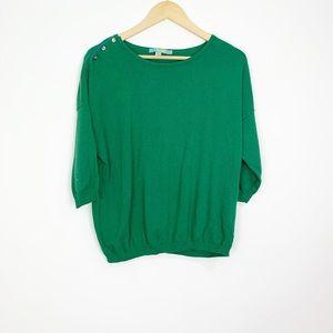 Boden Green Cashmere Blend Sweater Size 12
